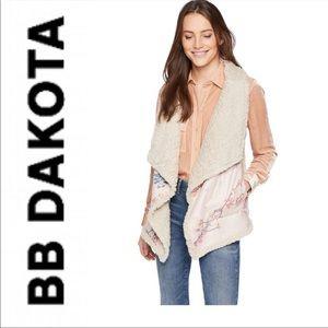 BB Dakota Women's Reversible Faux Vest NWT